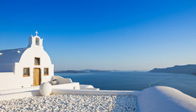 Small traditional Greek Orthodox church in Oia, Santorini Royalty Free Stock Photo