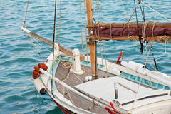 Small traditional Greek sailboat Royalty Free Stock Images