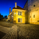 Small Traditional House in the Old Town of Tallinn Royalty Free Stock Photos