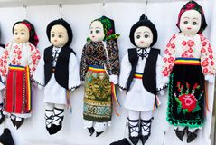 Small traditional puppets Stock Image