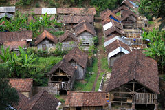 Small traditional village in Indonesia Royalty Free Stock Photography