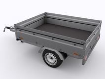 Small Trailer isolated Royalty Free Stock Image