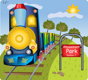 Small train stock illustration