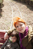Small train park ride Royalty Free Stock Photos