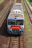 Small train on the railway track Royalty Free Stock Images