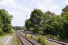 Small train station Royalty Free Stock Photography