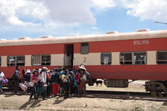 Small Train stop in Bolivia, South America Stock Image