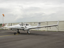 Small training aircraft on the airfield Royalty Free Stock Photos