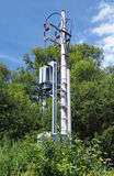 Small transformer station in forest Royalty Free Stock Photography