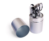 Small travel toiletry set Royalty Free Stock Images