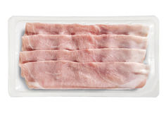 Small Tray Packaged of Presliced Baked Ham Royalty Free Stock Photography