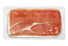 Small Tray Packaged of Presliced Ham Royalty Free Stock Photography