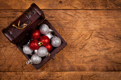 Small treasure box with decorations Royalty Free Stock Images