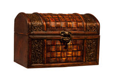 Small treasure chest isolated Stock Photography