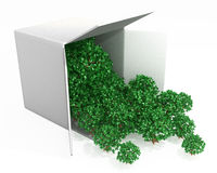 Small Tree Box. 3d, over white, isolated Stock Photo
