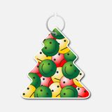 Small tree with handle and smileys with emotions Royalty Free Stock Images