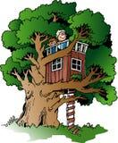 Small tree house Stock Photo