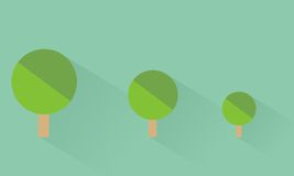 Small tree. Icon small tree flat design Stock Images