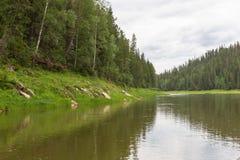 A small tributary of the Yenisei River. Krasnoyarsk region, Russia Stock Image