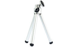 Small tripod. Metals coated on a white background Stock Photos