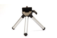 Small tripod for compact camera on white Stock Photos