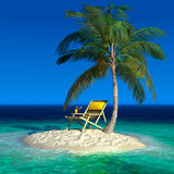 A small tropical island Stock Image