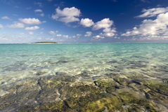 Small tropical island . Aitutaki,The Cook Islands royalty free stock image