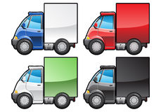 Small truck. A Vector .eps 8 illustration of small truck. (Simple gradients only - no gradient mesh Royalty Free Stock Image