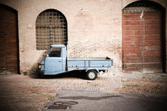 Small truck on the street Royalty Free Stock Photo