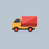 Small truck for transportation cargo isolated. Delivery service Stock Image
