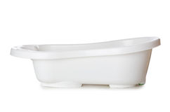 Small tub isolated on the white Stock Photo
