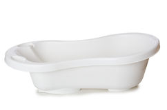 The small tub isolated on the white Stock Images