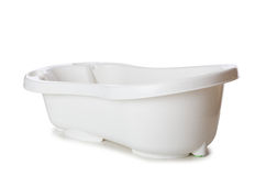 The small tub isolated on the white Royalty Free Stock Photography