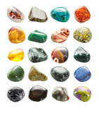 Small tumbled stones collection Stock Photography