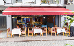 Small turkish restaurant in the morningm Royalty Free Stock Photography