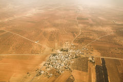 Small Turkish village from above Royalty Free Stock Photography