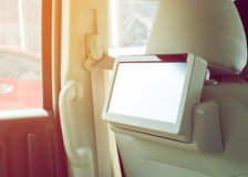 Small tv led audio in car Royalty Free Stock Images