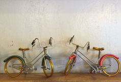 Small. Two small bicycle made of wire for show put on shelf shelves Royalty Free Stock Photos