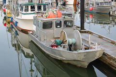 Small Two Man Salmon Catcher Boat. A small two man boat used for catching Pacific salmon Stock Photography