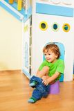 Putting off pants learning to use potty Royalty Free Stock Photography