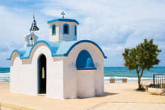 Small typical little church in greece. Image of Small typical little church in greece Stock Images