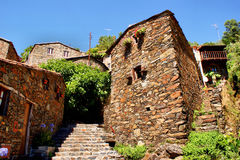 Small typical mountain village of schist Stock Image