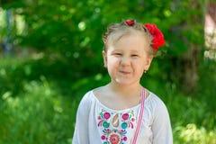 Small Ukrainian girl Royalty Free Stock Photos