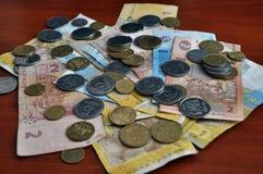 Small Ukrainian money_3 Royalty Free Stock Photo
