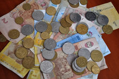 Small Ukrainian money Stock Photography
