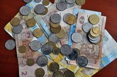 Small Ukrainian money_5 Stock Image