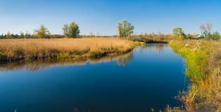 Small Ukrainian river Oril at afternoon time Stock Photos