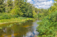Small Ukrainian river Vorskla Royalty Free Stock Image