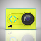 Small Ultra HD Action Camera. 3d Rendering Stock Photos