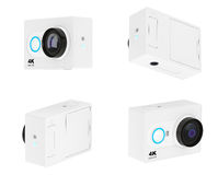 Small Ultra HD Action Camera. 3d Rendering Royalty Free Stock Photos